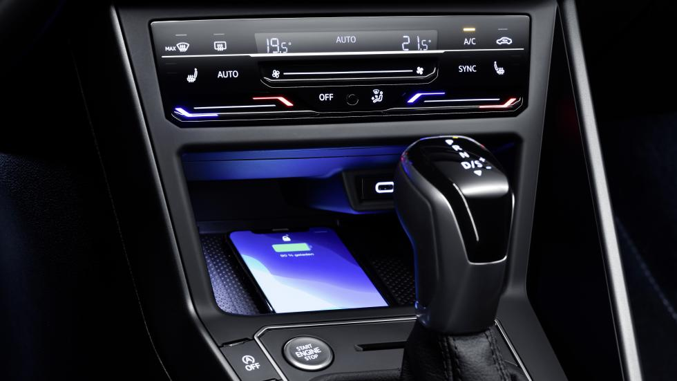 The Volkswagen Polo Center Console and Charging Dock