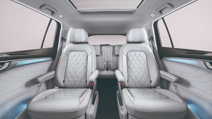 The Volkswagen Talagon Rear Passenger Seats