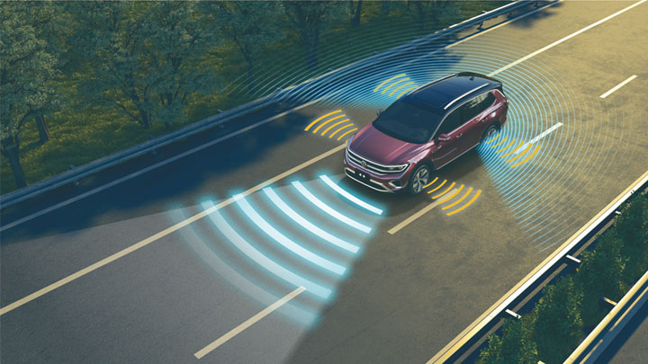 The Volkswagen Talagon Safety Sensors