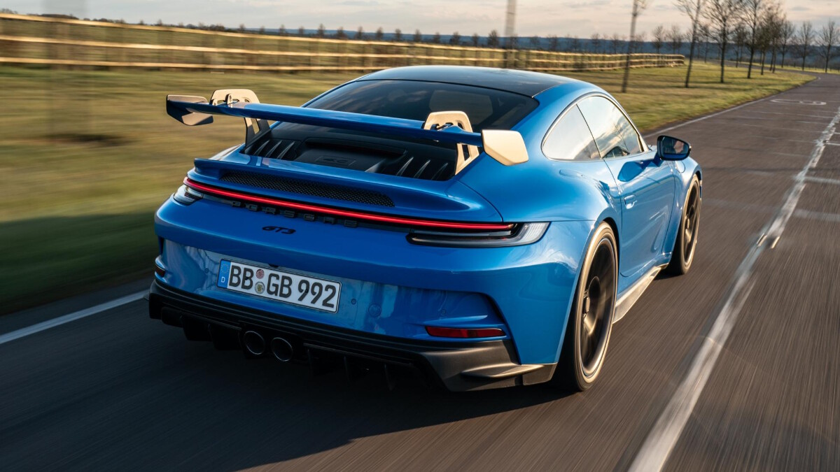 The Porsche 911 GT3 On the Road Rear View