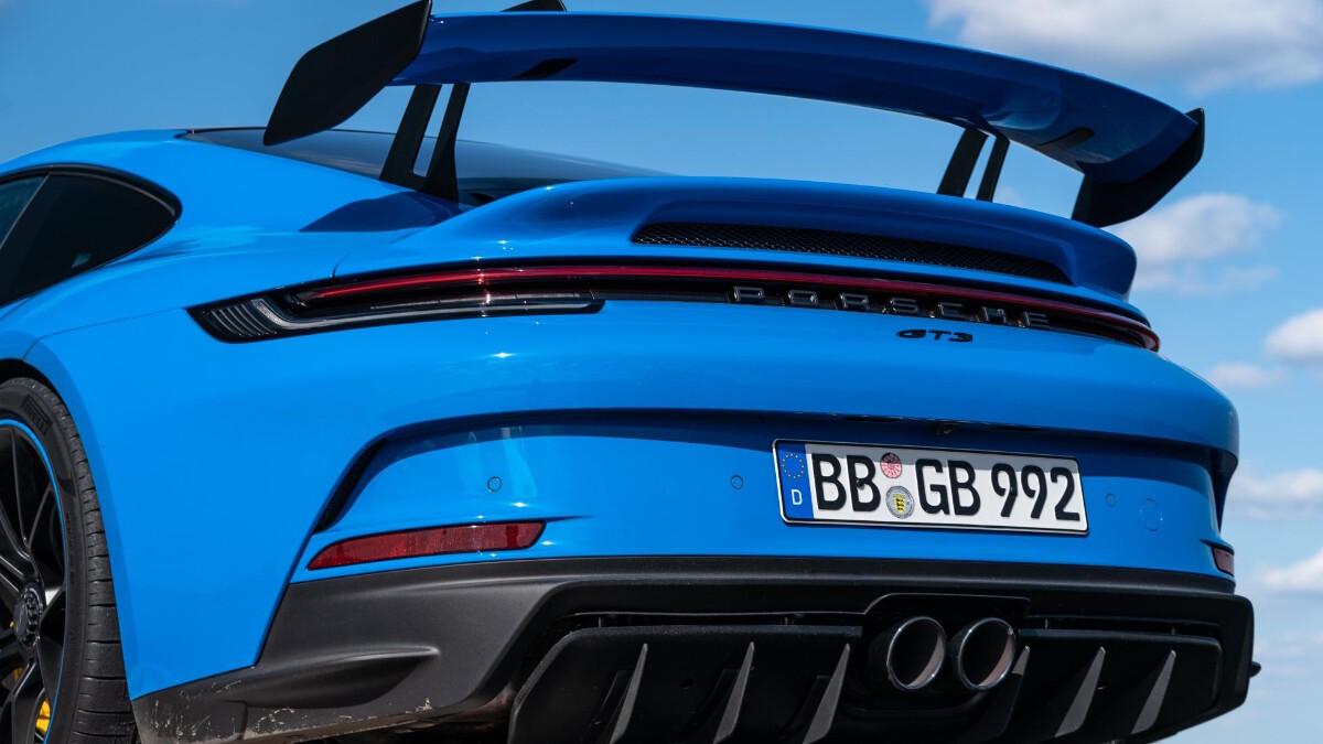 The Porsche 911 GT3 Rear Close Up