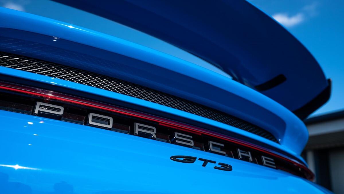 The Porsche 911 GT3 Rear Emblem