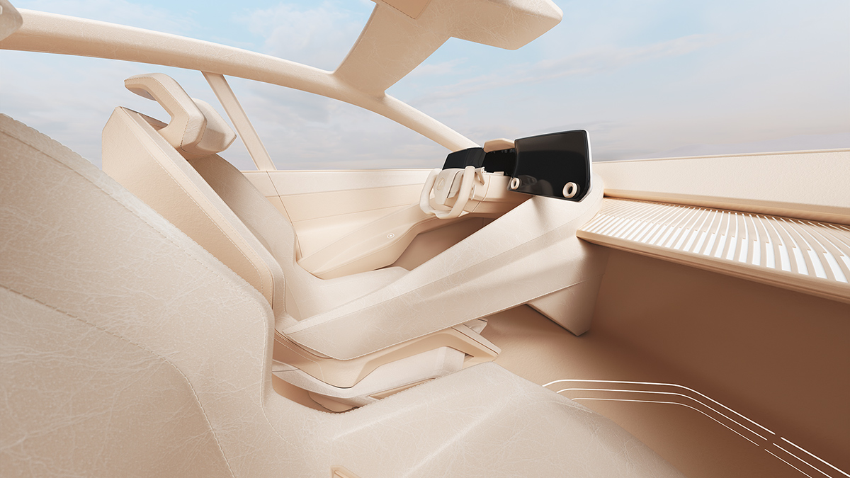The Lexus LZ-F Concept Cork Interior