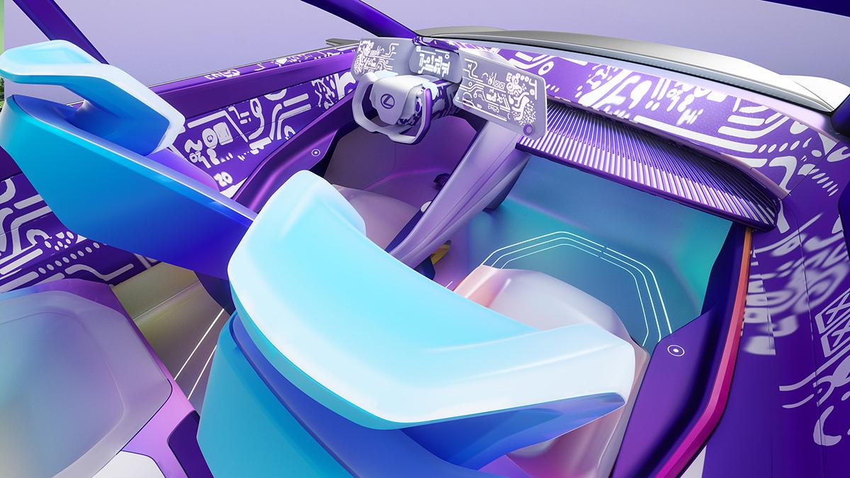 The Lexus LZ-F Concept Interior