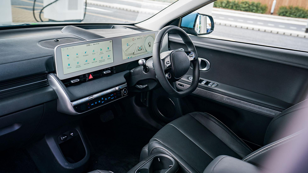 The Hyundai Ioniq 5 Driver's Seat and Steering Wheel