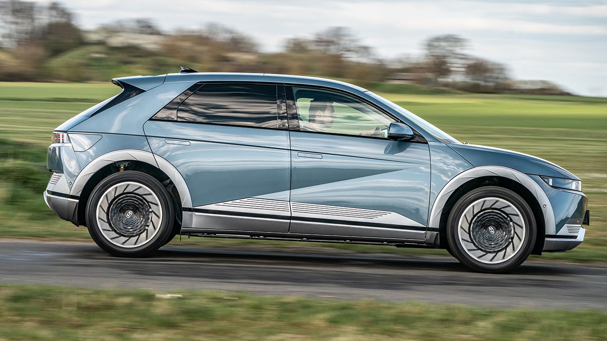The Hyundai Ioniq 5 Profile On the Road