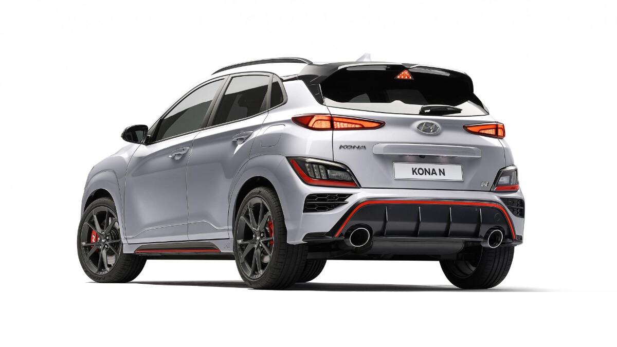 The Hyundai Kona N Angled Rear view