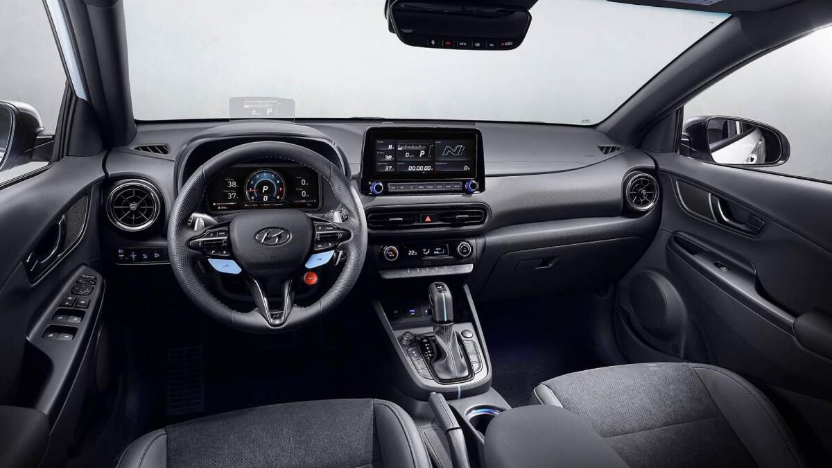 The Hyundai Kona N Dashboard