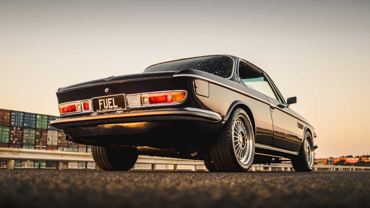 BMW 2800 CS by Fuel Bespoke Designs - Low Angled Rear View