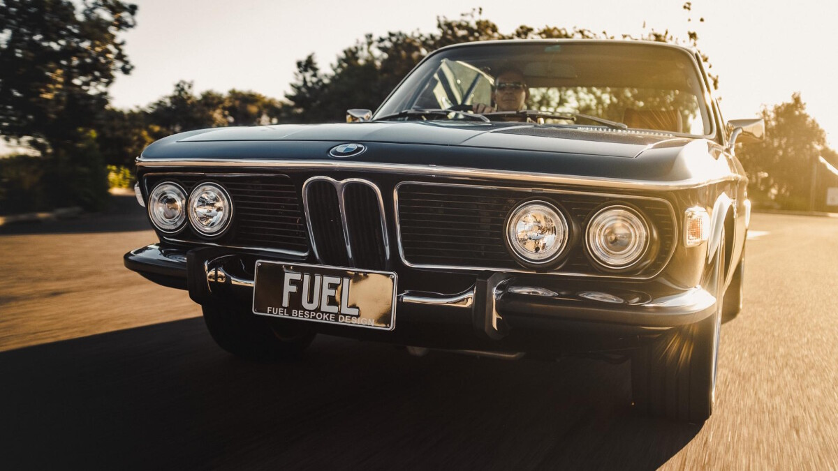 BMW 2800 CS by Fuel Bespoke Designs - Low Angled Front View