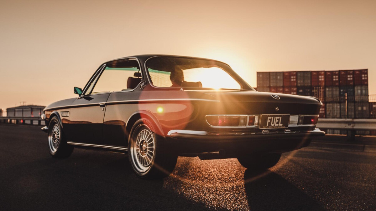 BMW 2800 CS by Fuel Bespoke Designs - Angled Rear View