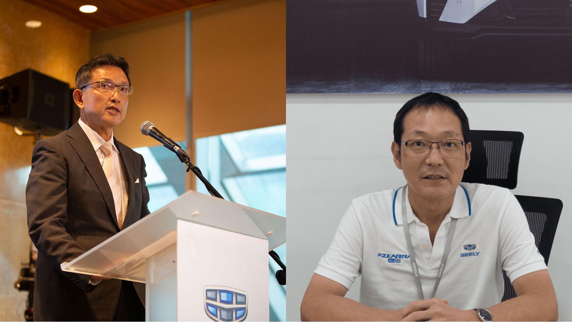 Left: Mikihisa Takayama; right: Yosuke Nishi