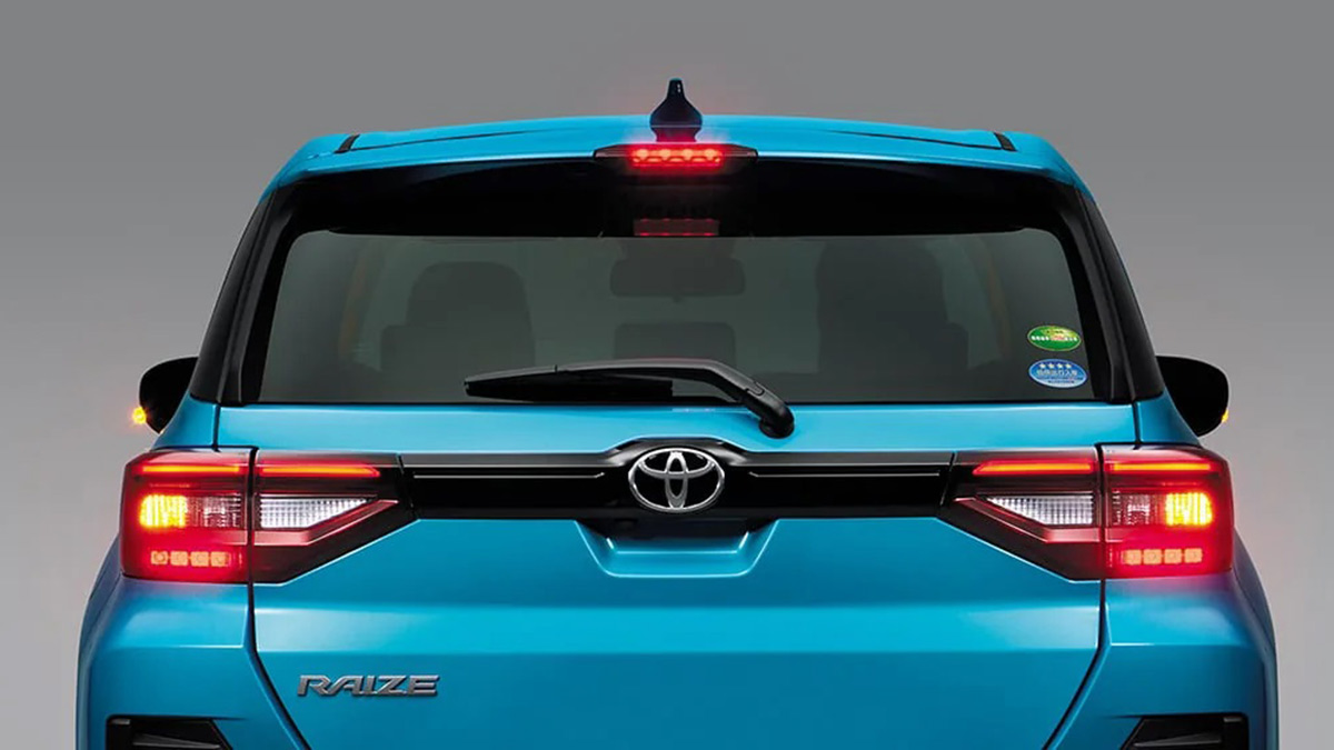 The Toyota Raize Rear Close Up