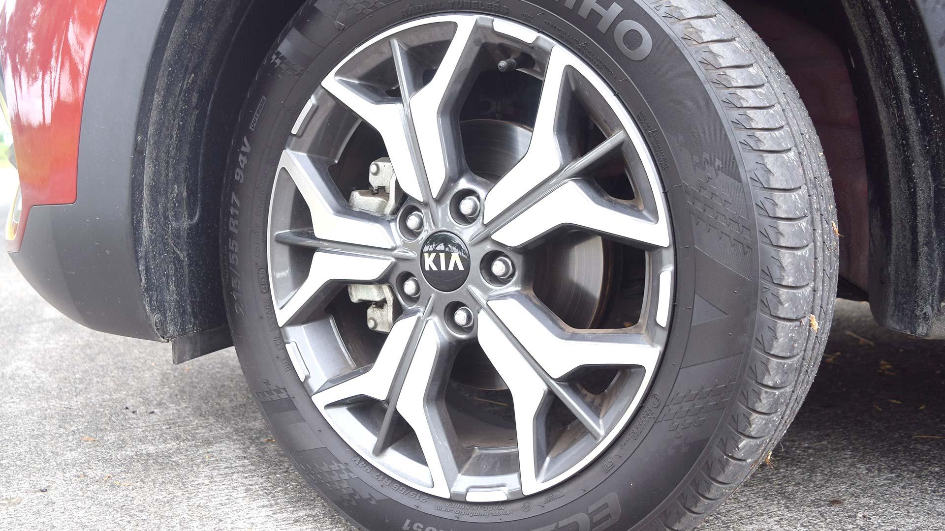 The Kia Seltos Front Tire