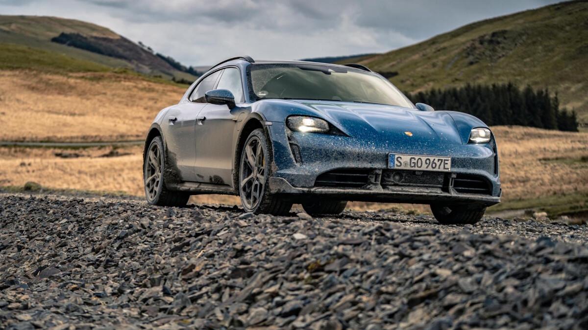 The 2022 Porsche Taycan Cross Turismo On Dirt