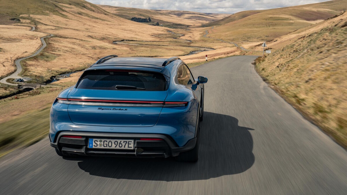 The 2022 Porsche Taycan Cross Turismo On the Road