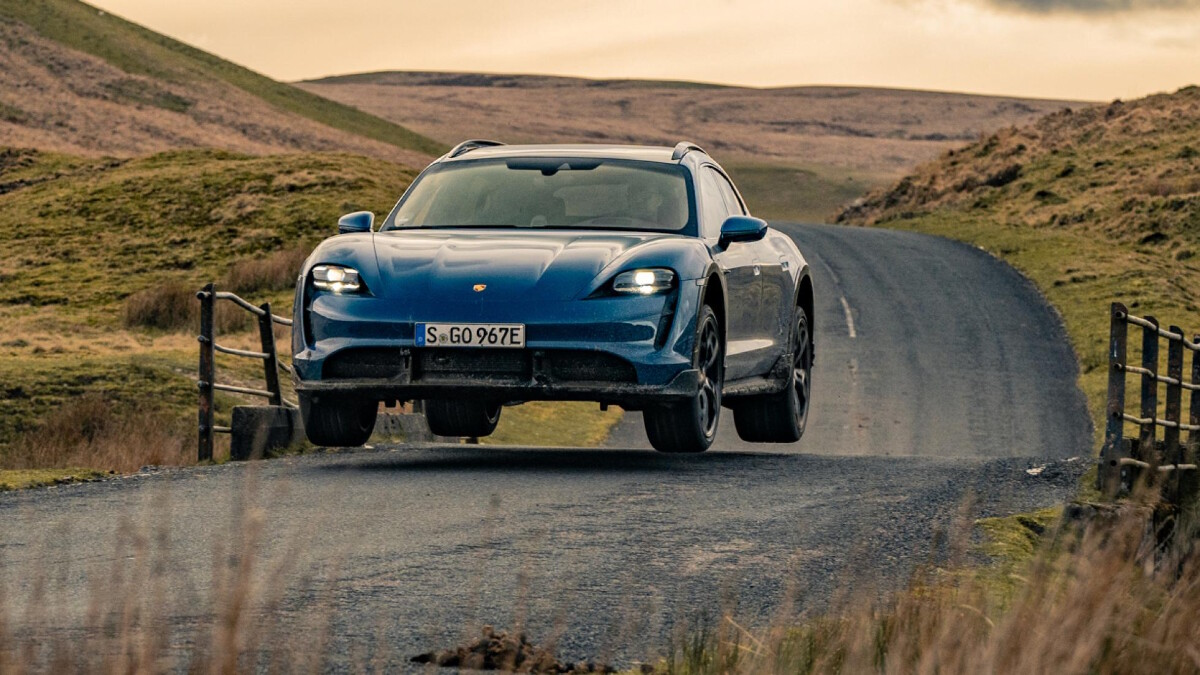 The 2022 Porsche Taycan Cross Turismo Off the Road