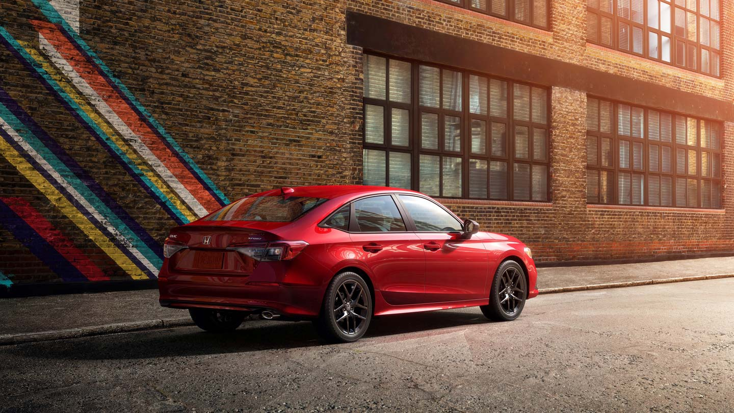 The 2022 Honda Civic in Red