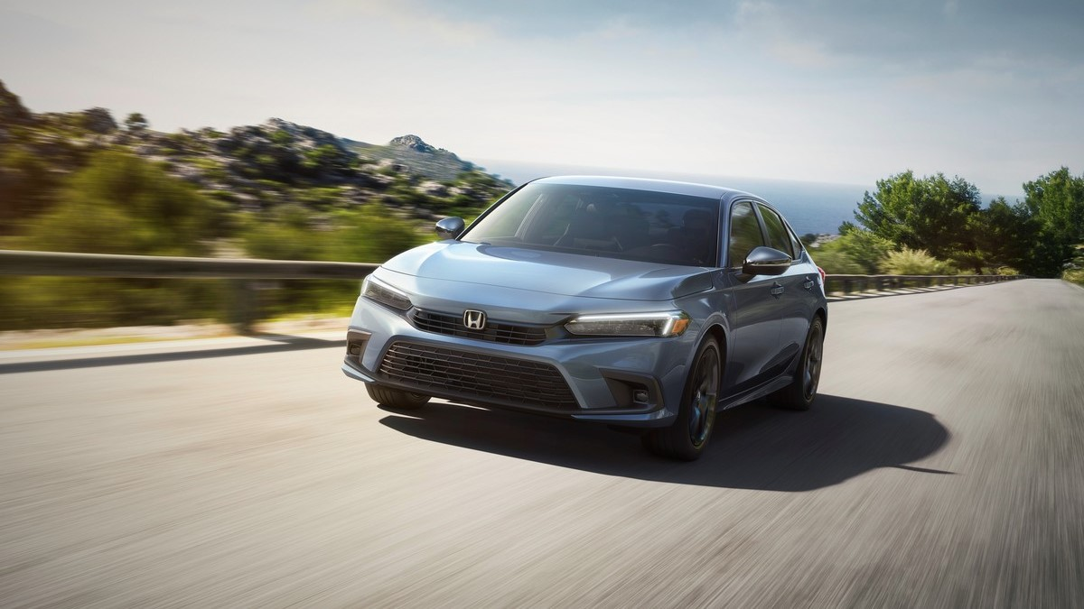 The 2022 Honda Civic On the Road Front View