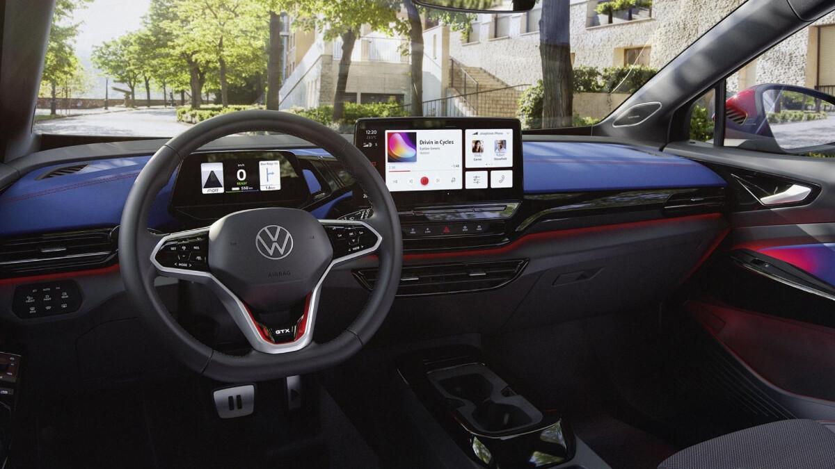 The 2022 Volkswagen ID.4 GTX Dashboard