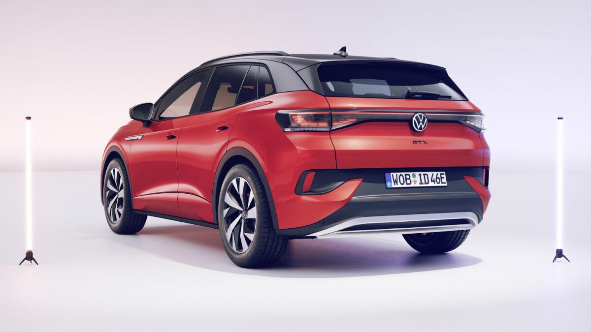 The 2022 Volkswagen ID.4 GTX Angled Rear View