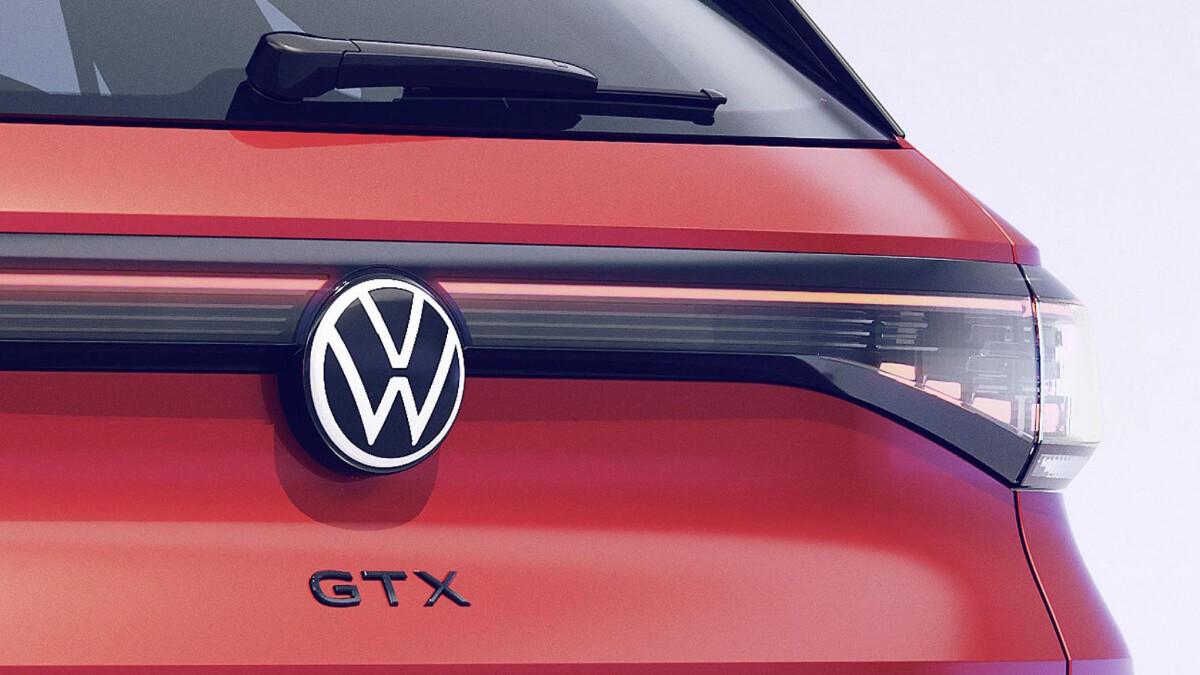 The 2022 Volkswagen ID.4 GTX Rear Emblem Close Up