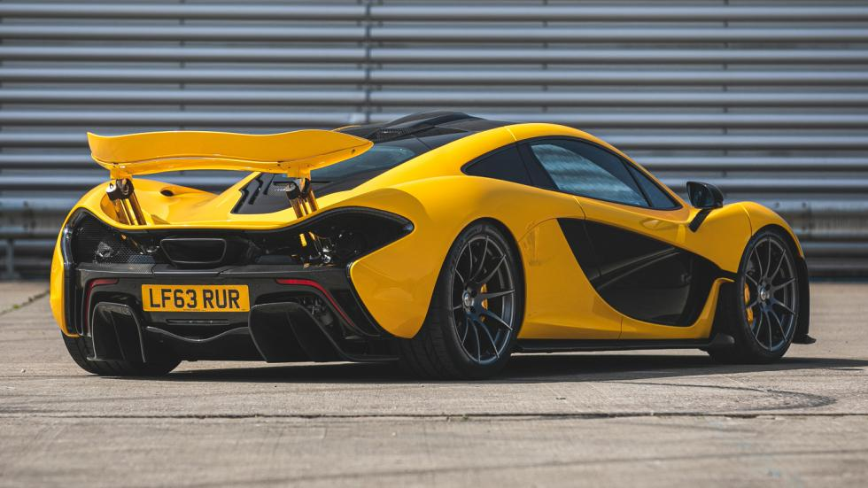 The McLaren P1 Angled Rear view