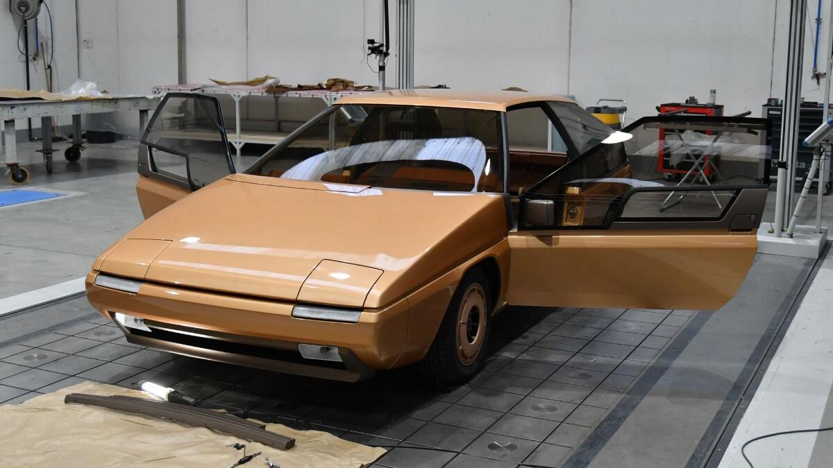 The Mazda MX-81 Aria with doors opened