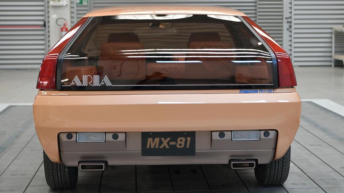 The Mazda MX-81 Aria - Rear View