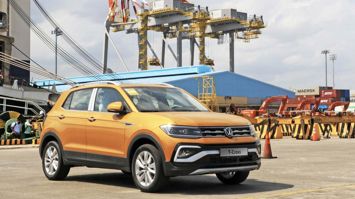 The Volkswagen T-Cross Parked on a Port