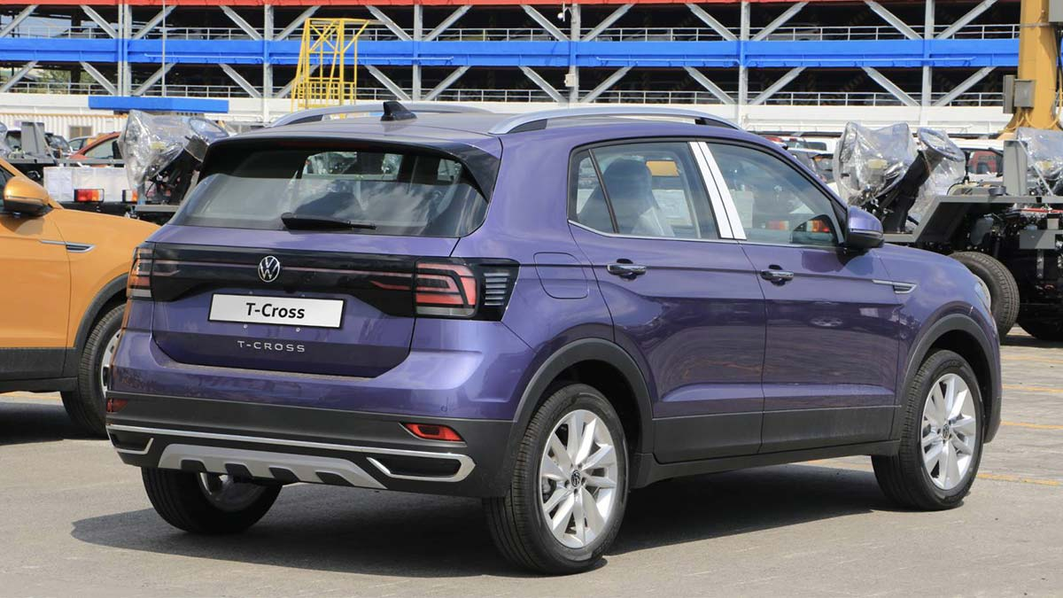 The Volkswagen T-Cross Angled Rear View