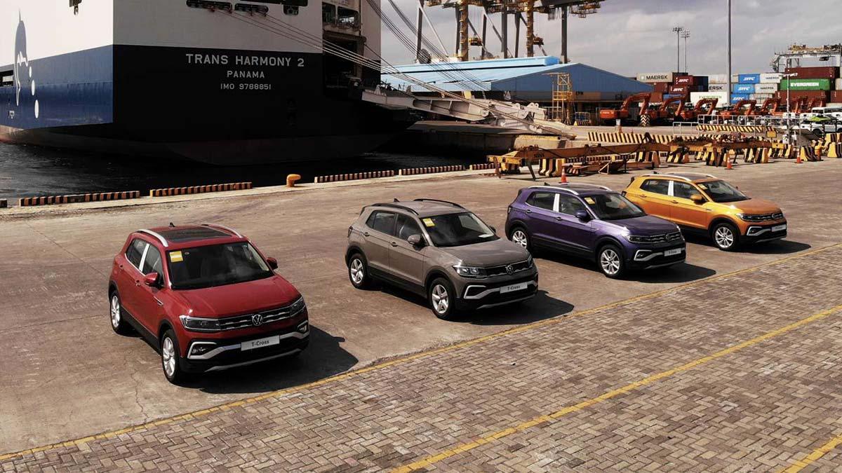 A Fleet of Volkswagen T-Cross - Bird's Eye View