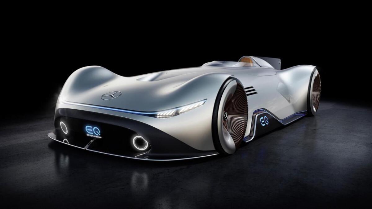 Mercedes-Benz Vision EQ Silver Arrow as Showcased
