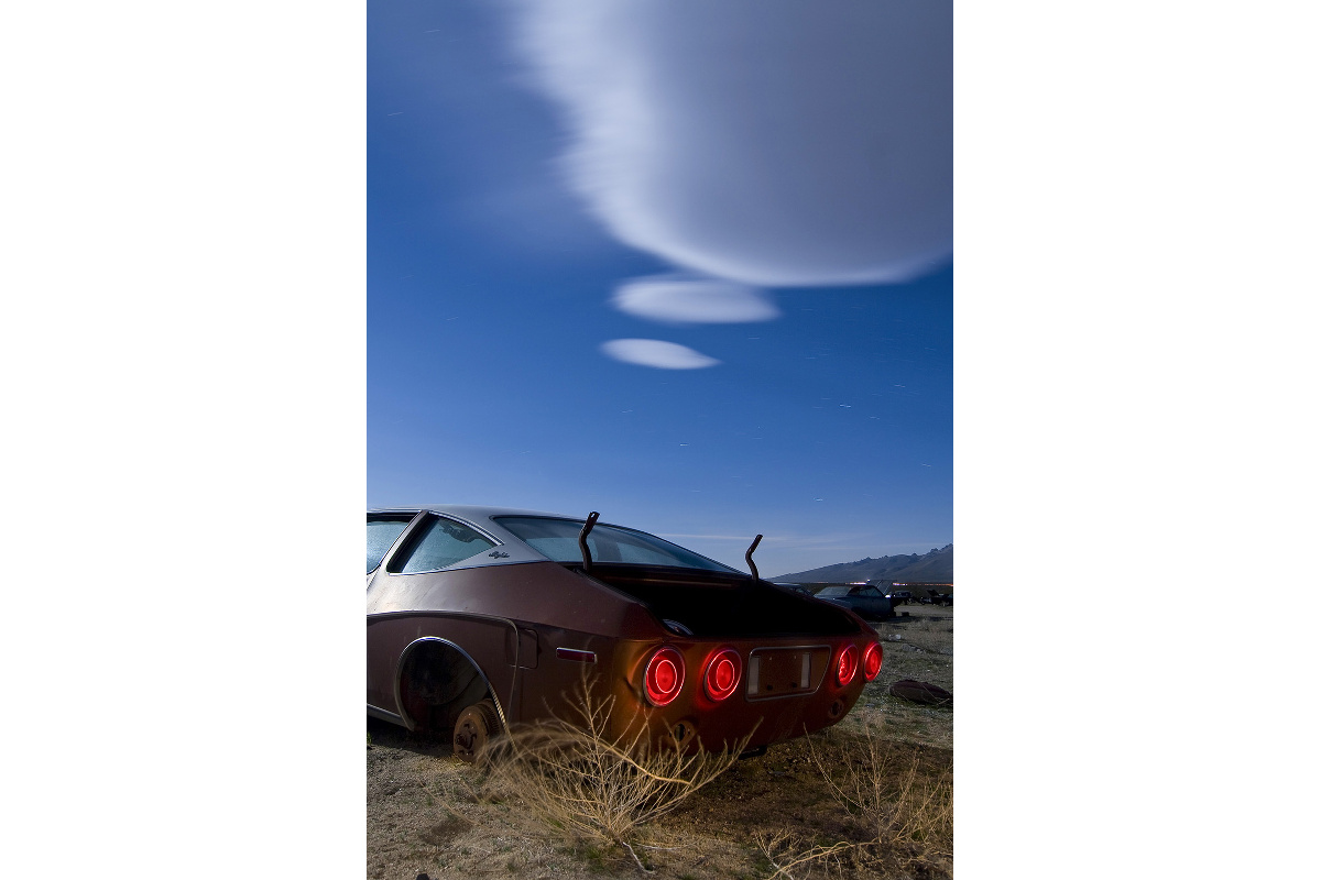 El Matador Thinks' – A contemplative 1974 AMC Matador under insane lenticular clouds at Pearsonville, California. Shot in 2010, the site was cleared in 2011.