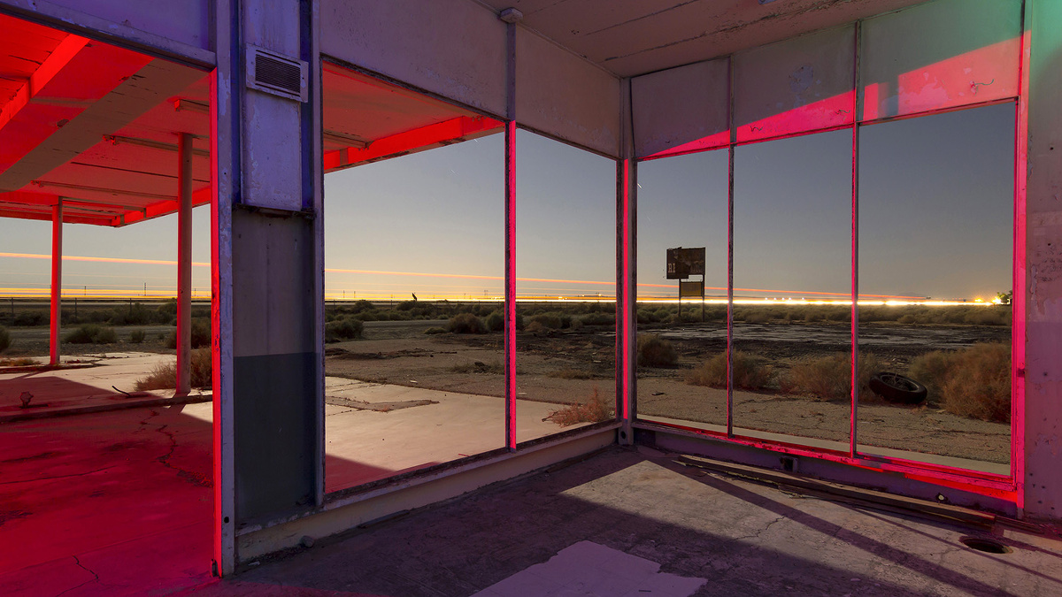 'North Edwards Requiem' – 3am at an abandoned high desert gas station. Torn down right after shooting this in 201