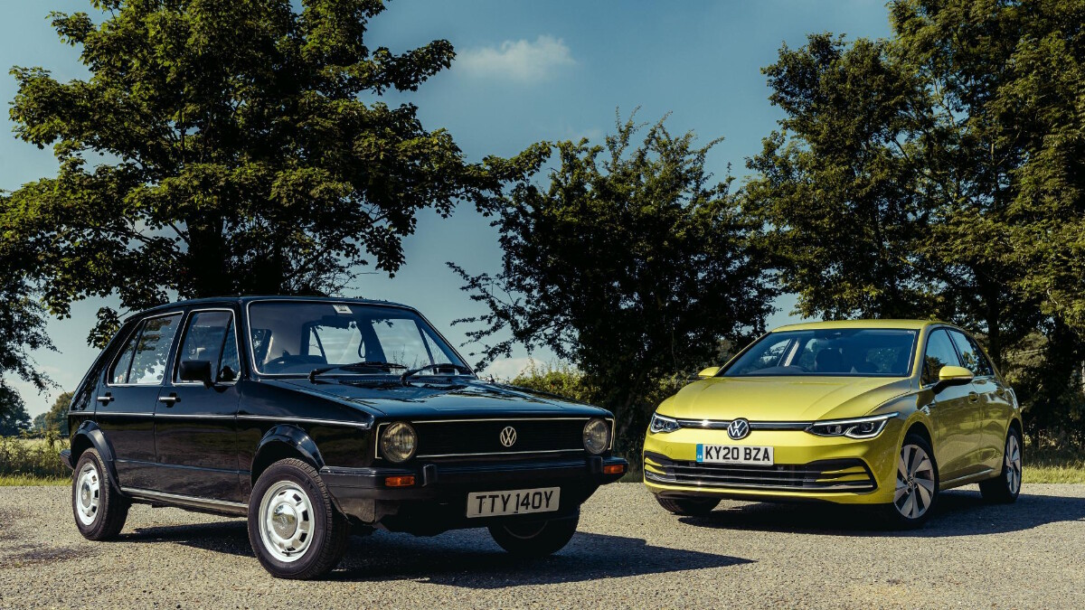 The VW ID.3 and the Golf side by side