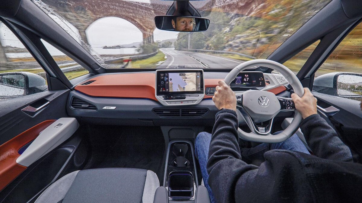 The VW ID.3's Dashboard and Steering Wheel