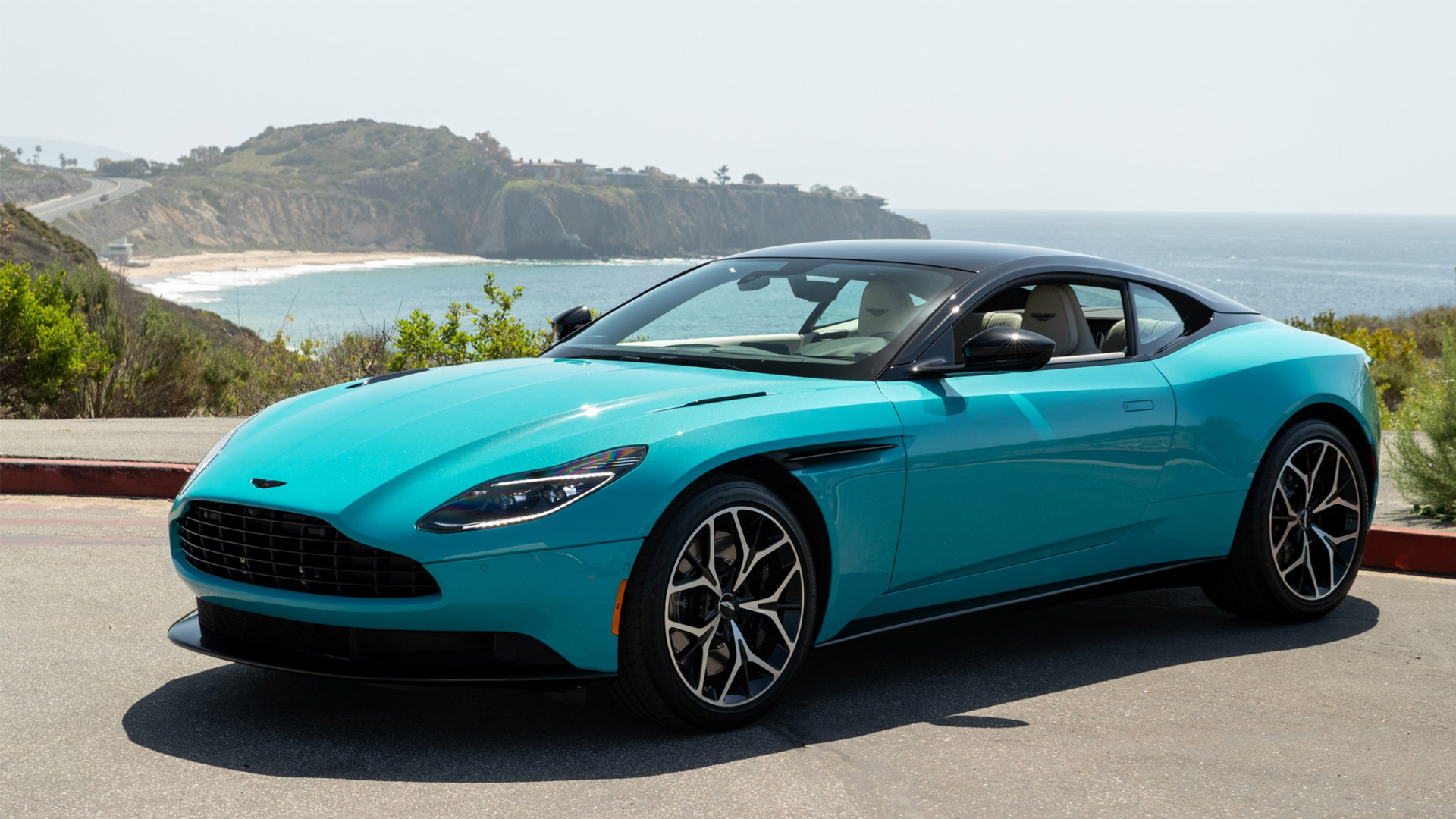 The Aston Martin DB11 Coupe in Butterfly Teal
