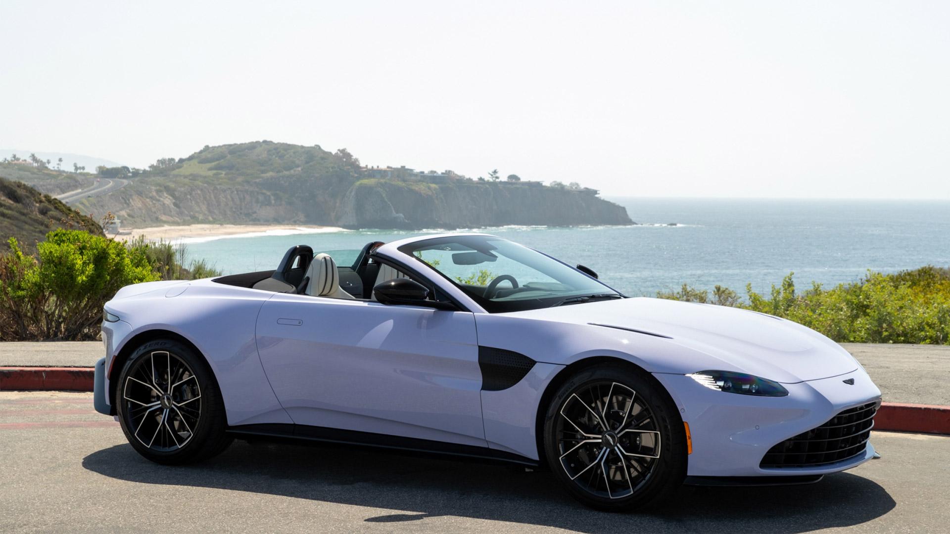 The Aston Martin Vantage Roadster in Cardamom Violet