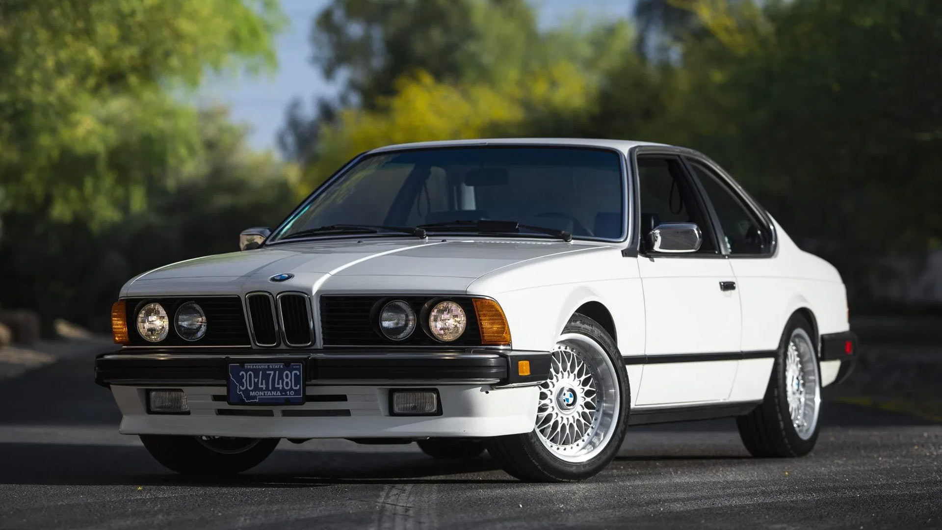 The 1984 BMW 633CSi Angled Front View