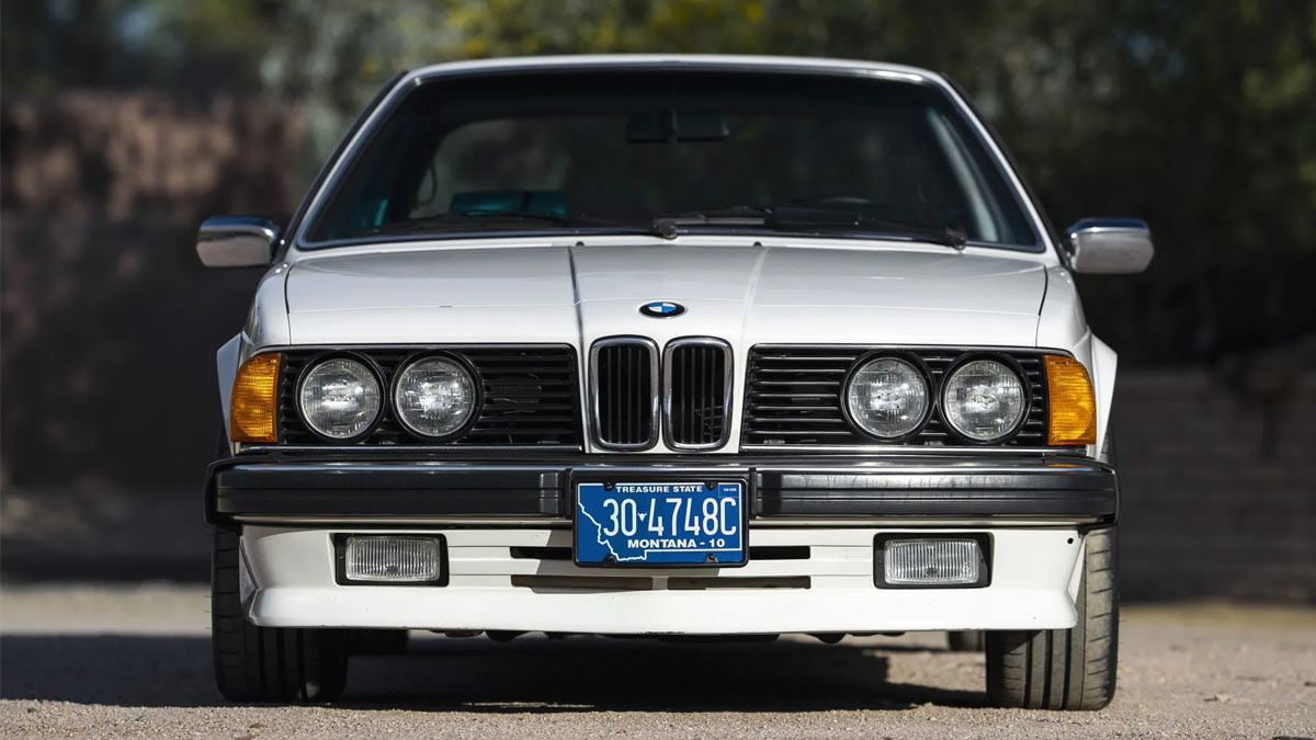 The 1984 BMW 633CSi Front View