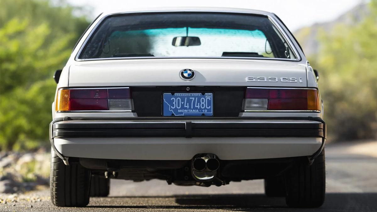 The 1984 BMW 633CSi Rear View