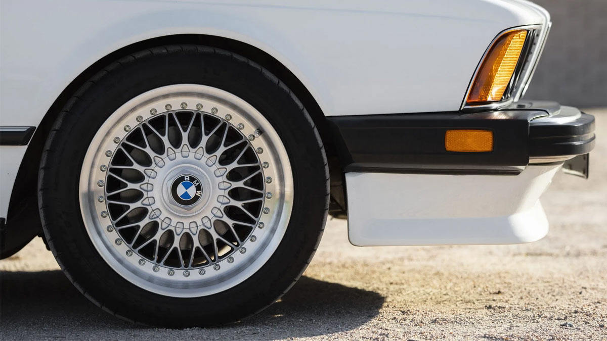 The 1984 BMW 633CSi Front Tire Close Up