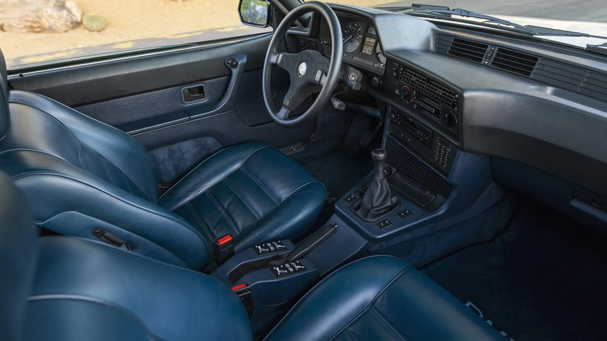 The 1984 BMW 633CSi Steering Wheel and Dashboard