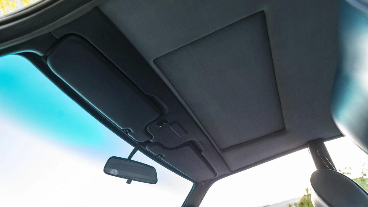 The 1984 BMW 633CSi Ceiling and Sun Visors