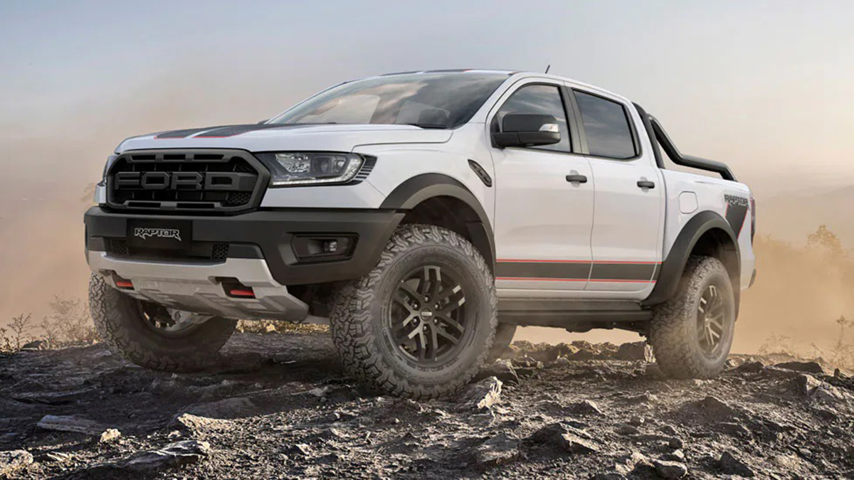 A poster promoting the Ford's new Ranger Raptor X