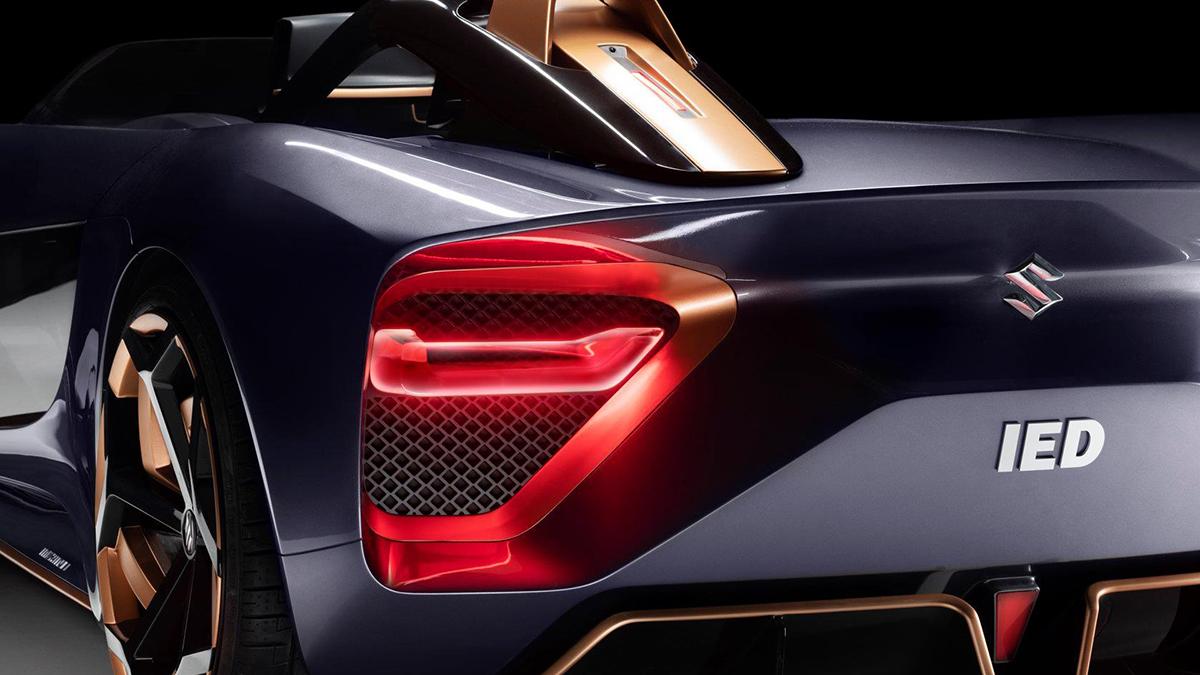 The Suzuki Misano Tail Lights Close Up