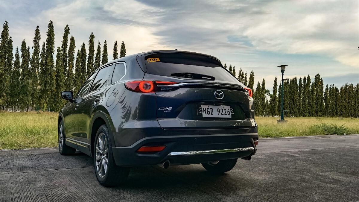 The 2021 Mazda CX-9 AWD Signature - Angled Rear View