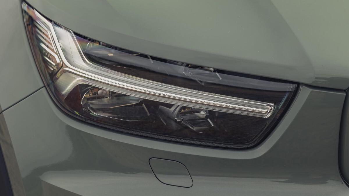 Head lamp of the Volvo XC40 P8 Recharge