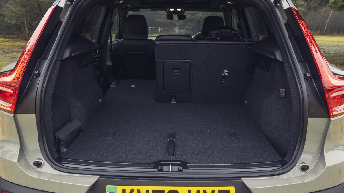 The Volvo XC40 P8 Recharge's trunk and storage space
